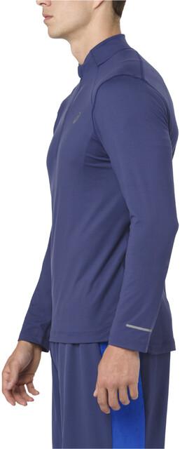 asics LS 12 Zip Jersey Uomo, indigo blue